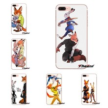 For Xiaomi Redmi 4A S2 Note 3 3S 4 4X 5 Plus 6 7 6A Pro Pocophone F1 Transparent TPU Covers Zootopia lovely rabbit Judy fox Nick(China)