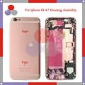 Высокое качество + Для IPhone 6 S Полный Жилищно Ассамблея Задняя Крышка Батареи с Sim-карты Лоток + Кнопки + Flex кабели