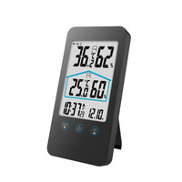 Digital Thermometer Hygrometer Electronic LCD Temperature Humidity Meter Weather Station Indoor Outdoor Clock display time Tools