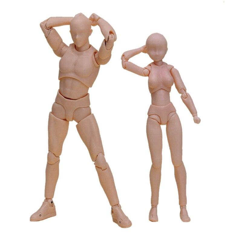 Anime Body Kun Chan DX Set Female Male Action Figure Orange Ver. S.H.Figuarts SHF Boxed PVC Figurine  Model Naked Toys cmt instock dasin model dm slam dunk hanamichi sakuragi s h figuarts shf pvc action figure anime toys figure
