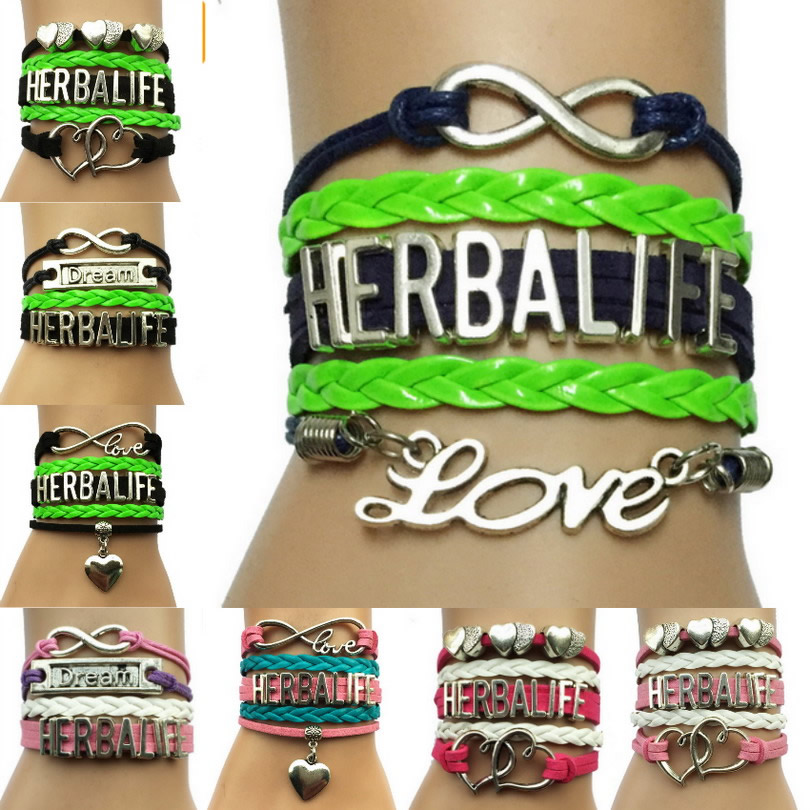 Herbalife Bracelets Handmade Leather Wrap Promotion Gift Company Lover image