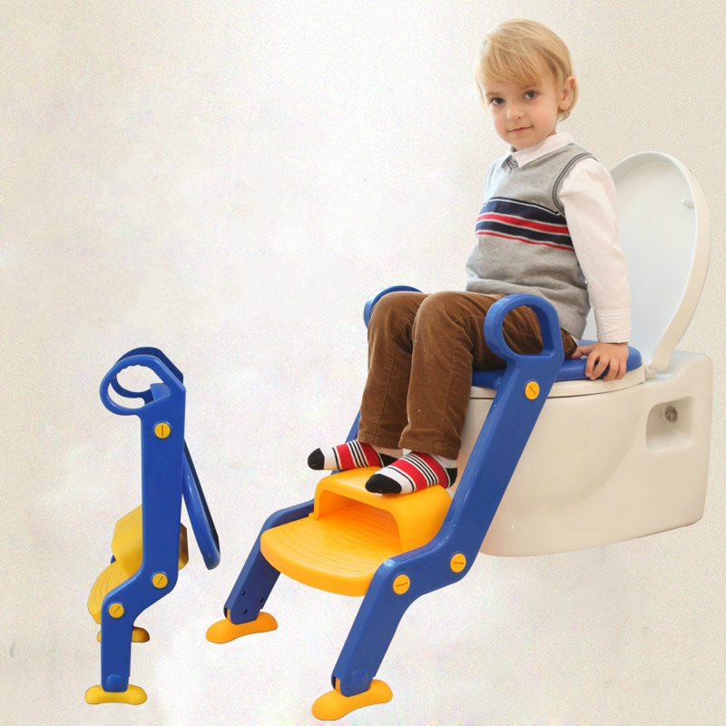 Children Baby Toilet Seat Ladder Folding Chair Pee Baby Toilet Safety Penico Potty Ring Step Ladder Stable Seat Training Urinal hot sale lovely baby children toilet baby drawer type bedpan children urinal potty training baby toilet soft stable stool seat