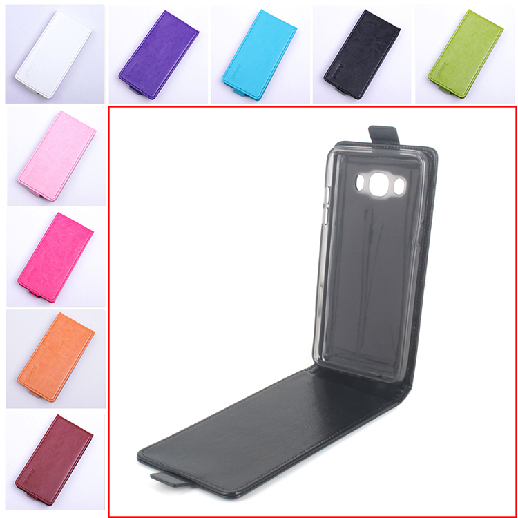Coque de téléphone de mode 9 couleurs pour Samsung Galaxy J5 2016 J510 J510F J510H J510M Flip Leather Cove Case Vertical Back Cover