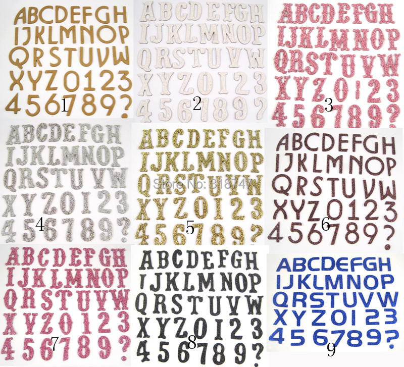 mixed color loose letters for scrapbooking chipboard 900pcs letterslot 048002016