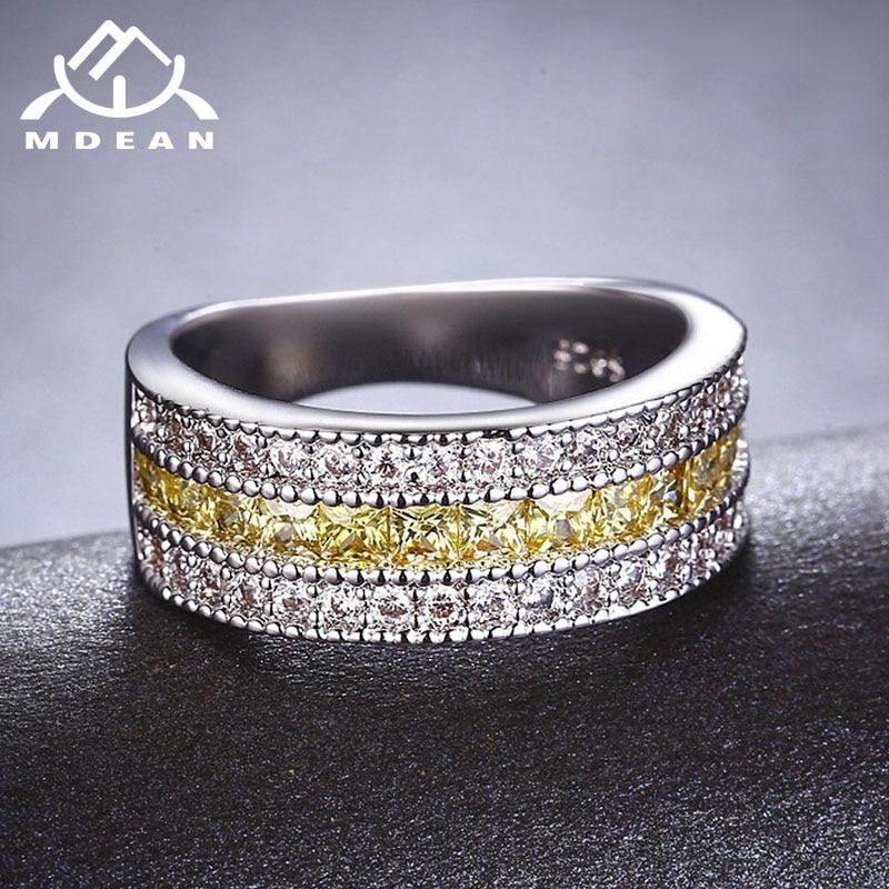 MDEAN սպիտակ ոսկե գույնի օղակներ կանանց - Նորաձև զարդեր - Լուսանկար 3