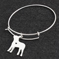 No Fade Silver Boston Terrier Silver Bracelet Bangle Femme Pulseras Mujer Pet/Dog Bracelets & Bangles for Women/Men Jewelry