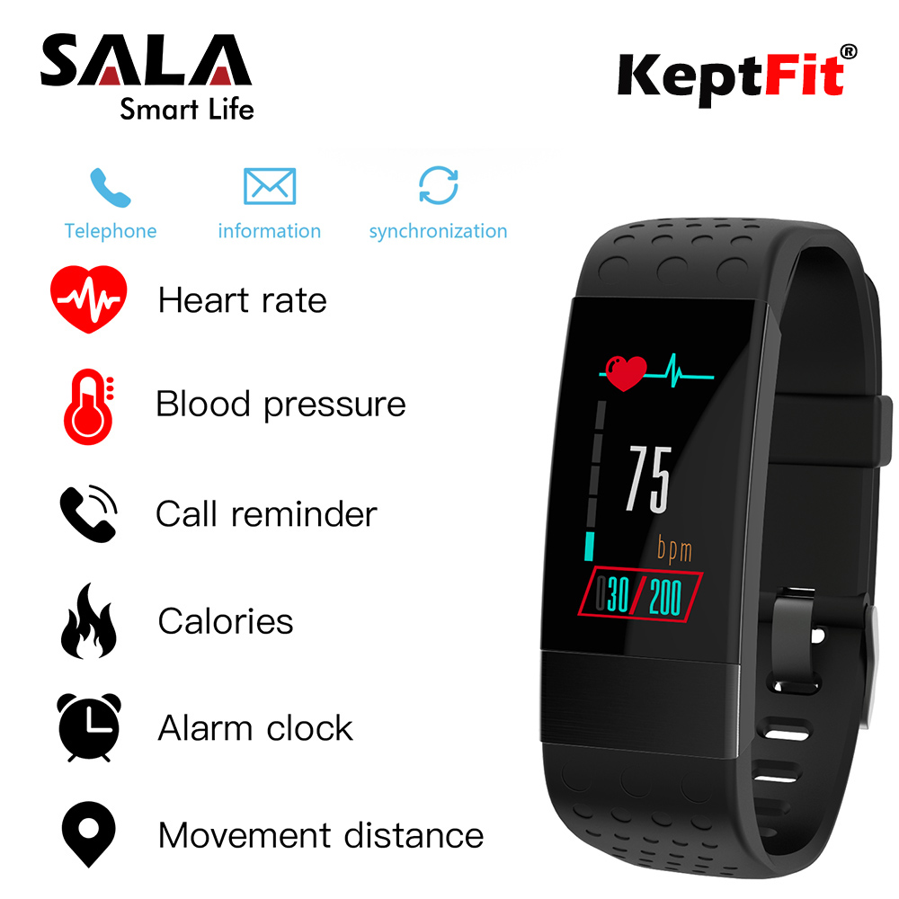 Keptfit Smart Bracelet Fitness Tracker Color OLED Sleep Heart Rate Blood Pressure Monitor IP67 Waterproof Watch Smart Wristbands