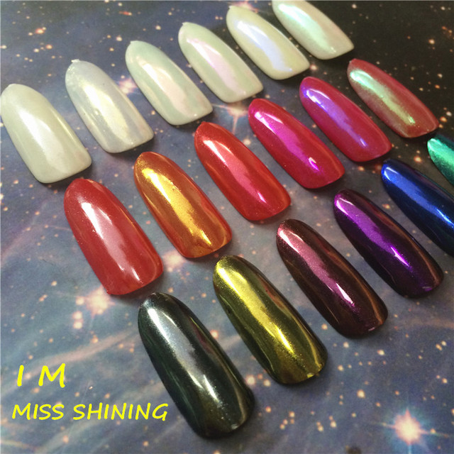 1 Box CERAMIC POWDER Shining Mirror Powder Nails Chrome Nail Polish Magic Effect Pigment