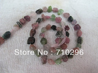 Natural Tourmaline semi precious gem stone loose beads 5x8mm facted nugget beads 15.5/string 5strings/lot