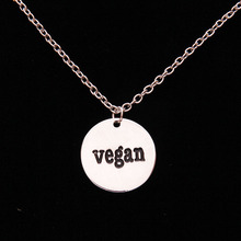 Vegan Carved Pendant Necklace