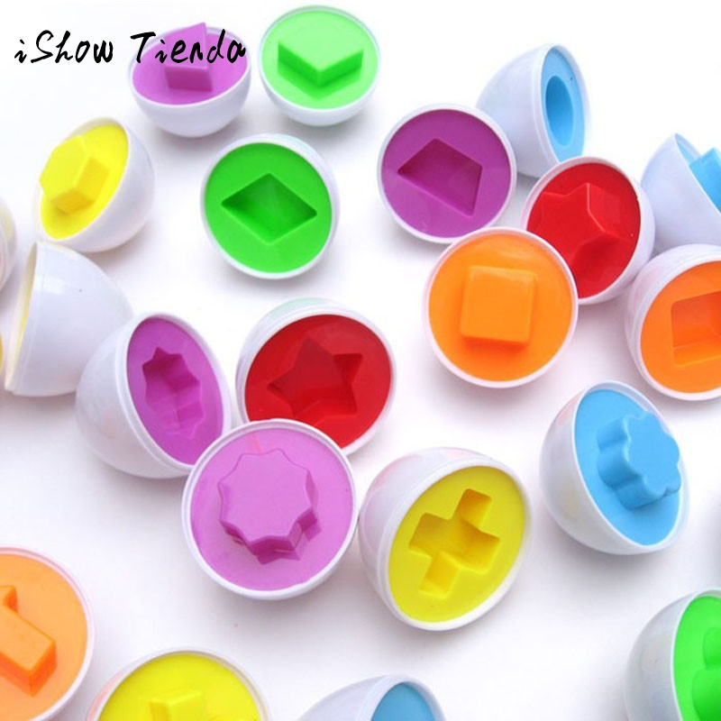 Essential 6 egg/set Learning Education toys Mixed Shape Wise Pretend Puzzle Smart Baby Kid Tool Toys For Children Lowest Price