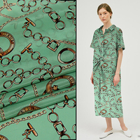 New silk double crepe fabric 138cm wide 12mm inkjet skirt clothing shirt silk fabric 100% mulberry silk printed fabric