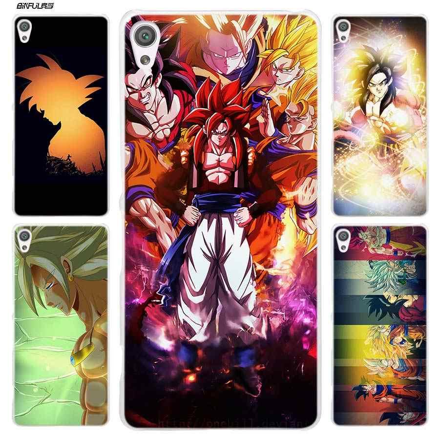 Dragon Ball Z Goku чехол для Sony Xperia XA XA1 X XZ Z5 Z1 Z2 Z3 M4 Aqua M5 E4 E5 C4 C5 компактный Премиальный жесткий прозрачный Чехлы для телефона