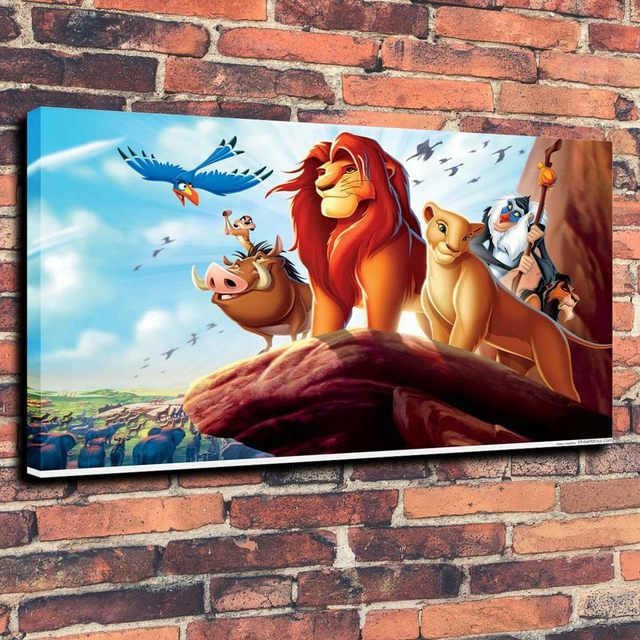 Lion King Cartoon Animated Wallpaper Desktop Mobile Print Oil ...
