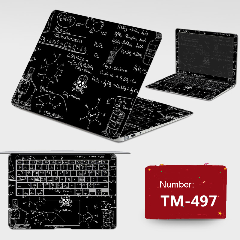 New ! 2018 Laptop Sticker DIY Personality PVC Skins Dustproof ABC Sides+Keys+Key Interstice Stickers For Dell 14-7447 7000 Case