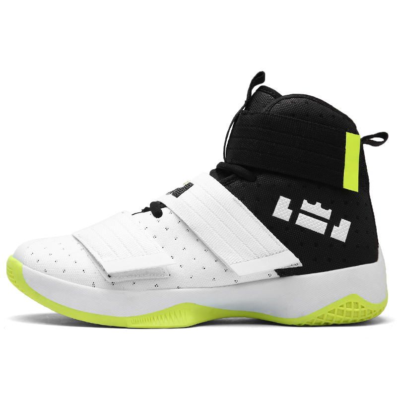 US $25.76 |Mvp li ning basketball lebron Soldier 10 uptempo gg shoes Off lover white uptempo krampon chaussure homme marque sneakers mens in