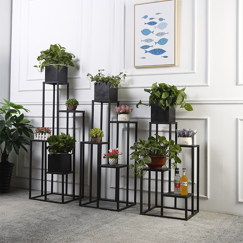 4 Layers Metal Floor Iron Plant Stand