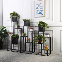 4 layers metal floor iron plant stand planter Modern fashion classic nordic shelf  indoor flower rack dropshipping