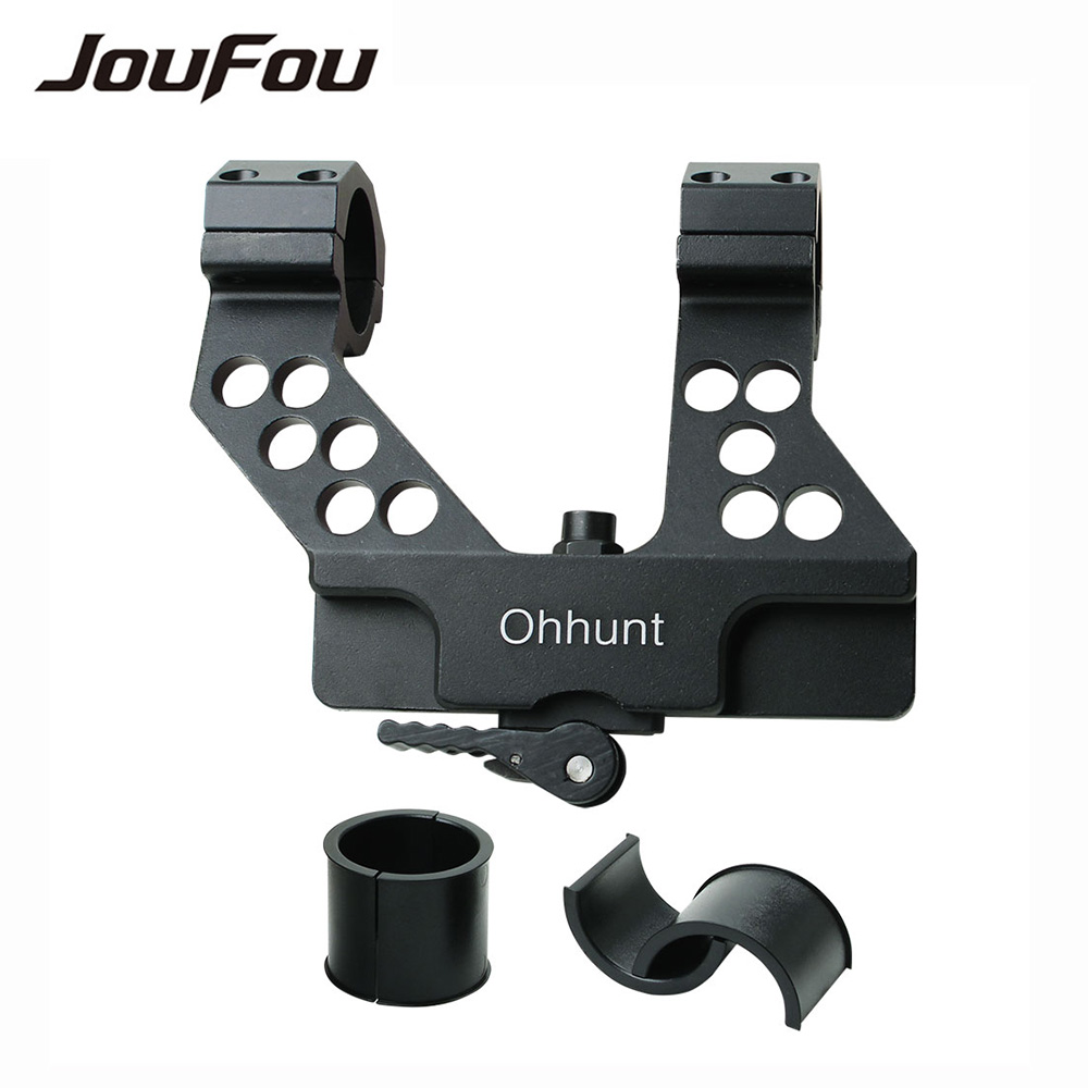 ФОТО JouFou Hunting Accessories Quick Detach AK Side Rail Scope Mount 1 Inch/30mm Rings Locking System For AK47 Black