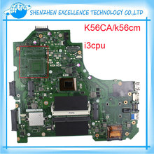 For K56CA Asus laptop motherboard K56CM mainboard REV 2.0 PM onboard I3 CPU fully test before shipping