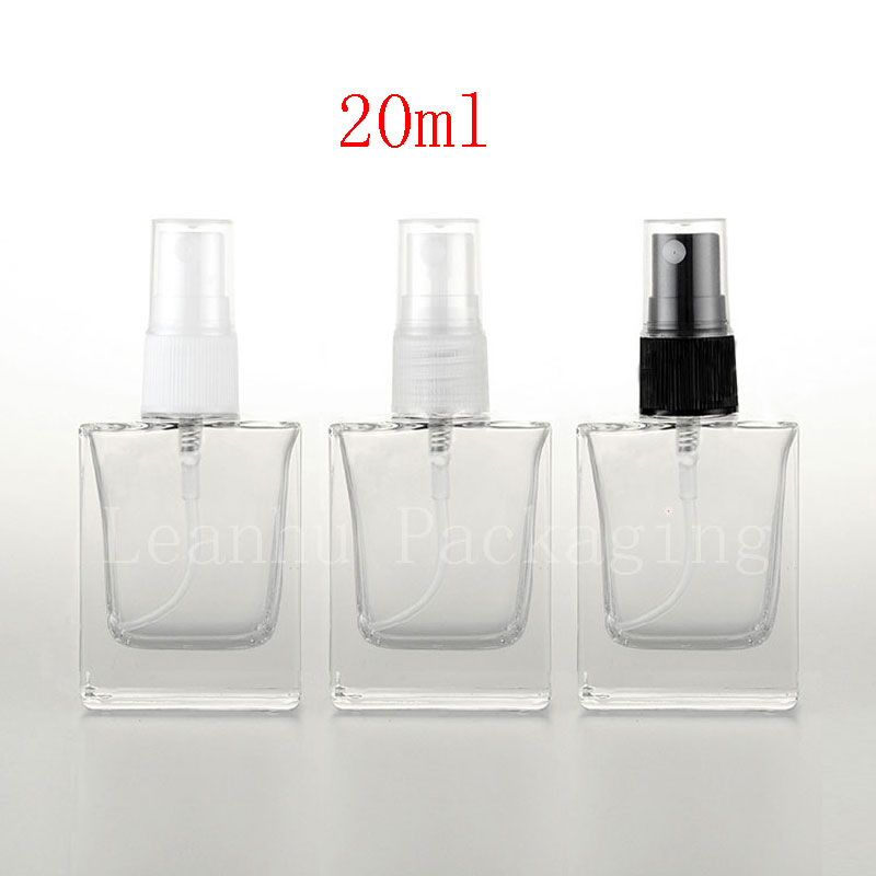Aliexpress Com Buy 20ml Empty Square Clear Glass Perfume