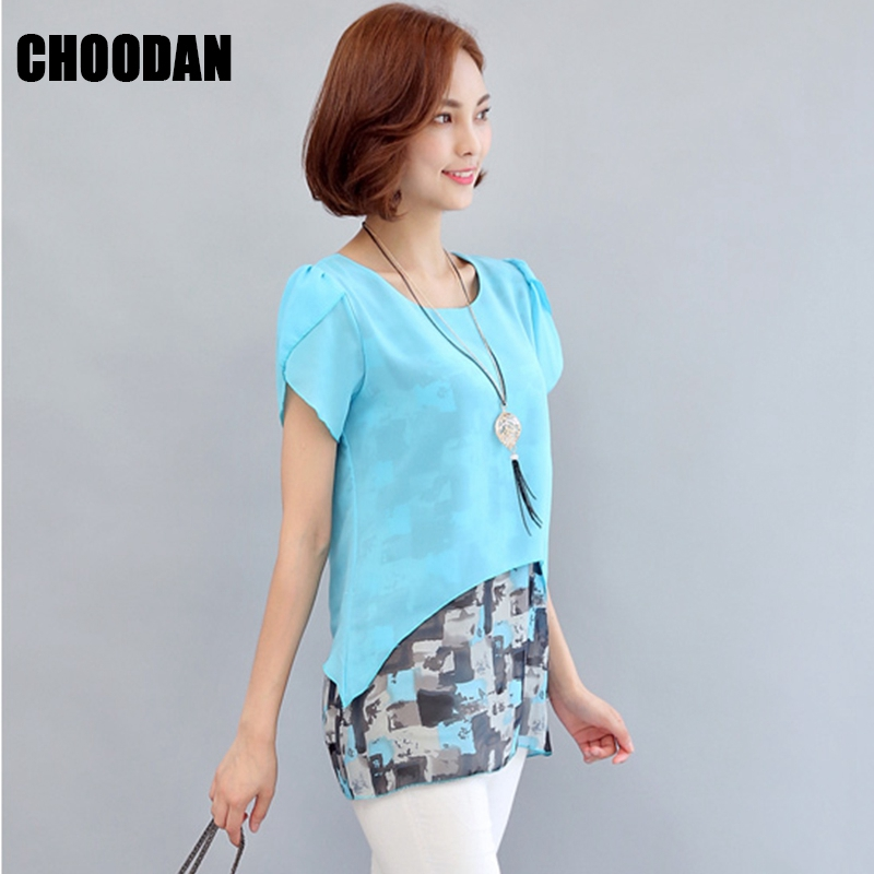 Perfect Aliexpress.com  Buy Women Blouses 2017 Summer Silk Chiffon Tops For Women Plus Size Xxxl O Neck ...