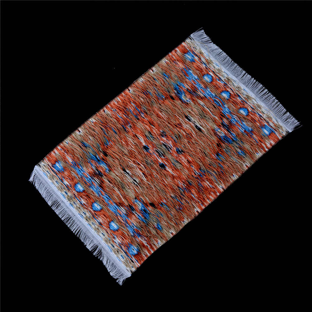 10*15 cm 1:12 Dollhouse Miniature Thêu Thảm Dệt Hoa Thảm Trải Sàn Quà Tặng Trang Trí Thủ Công Bức Tượng Nhỏ Đồ Chơi