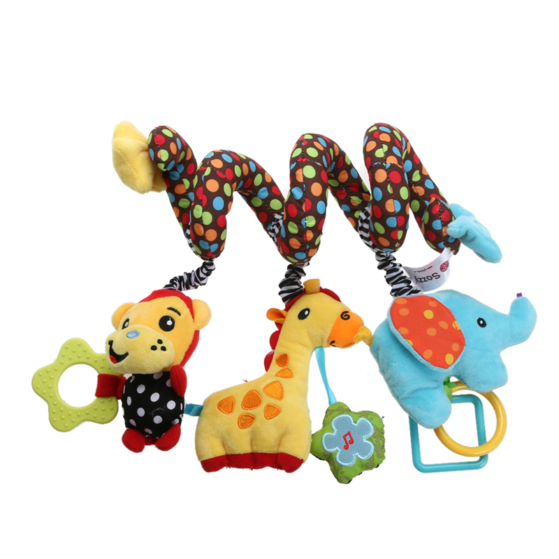 Baby IQ Development Toy Monkey Elephant Bed Crib Hanging with Bell Baby Toy Mobiles Bebes Toy for Baby