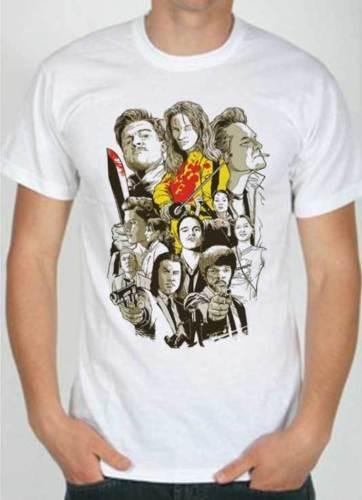 T-Shirt Quentin Tarantino film, con tutti film Letter Printing