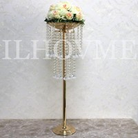 Newest Double Layer Acrylic Crystal Bead Curtain Hotel Home Table Decoration Wedding Road Lead Diameter 25CM x High 52/82CM