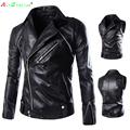 Leather Jacket Men High Quality Sleeves Detachable jackets men,Fashion Jaqueta Masculina Couro M L XL XXL brand clothing