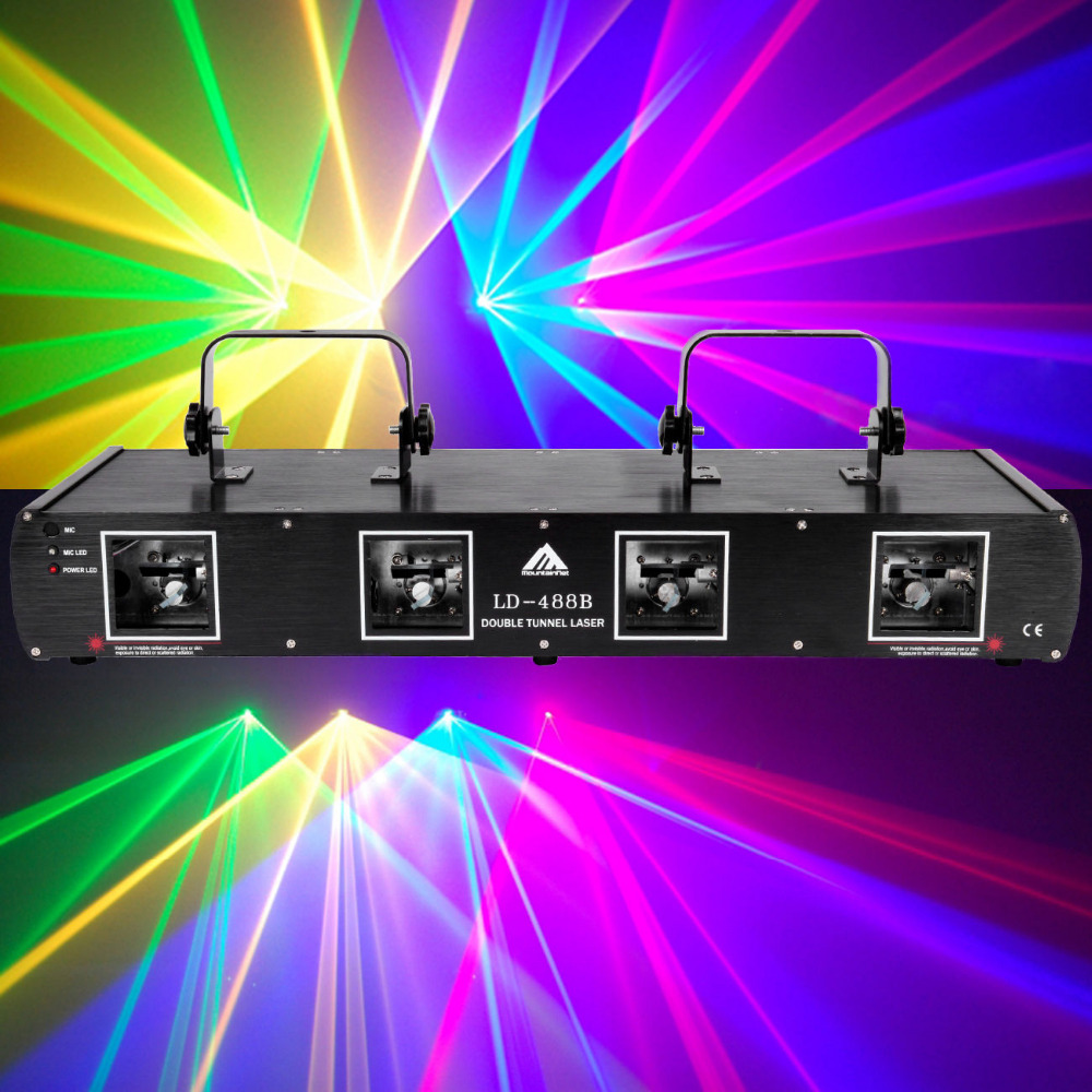 (Shipping From DE )4 Lens 760mW Red+Green+Yellow+Blue DMX Laser Light Disco DJ Stage Party Lighting show