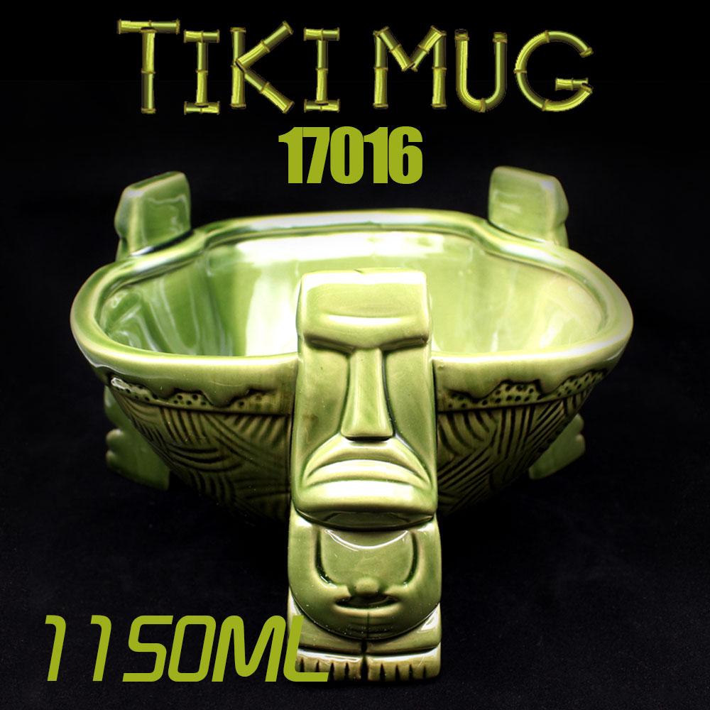Big Tiki bowl Cocktail Cup Beer Wine Mug Ceramic Tiki Mugs Art Crafts Creative Hawaii Mugs