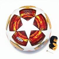 2018 2019 finals Soccer Ball Madrid 19 Final Balls Red Match football ball PU high grade seamless paste skin