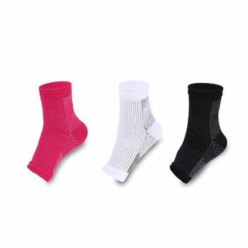 Pain Relief Foot Compression Sleeves White / Pink 15