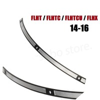 Motorcycle Stainless Steel Deep Cut Slotted Windshield Trim For Harley Touring FLHT FLHX 2014 2016