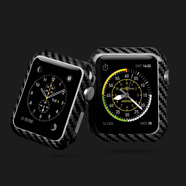 new styles 63b8c 83605 For Apple Watch Carbon Fiber Cover Case Series 1 2 3 42mm 38mm ...