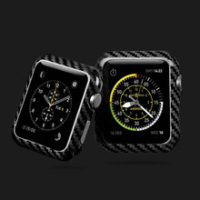 High Quality Luxury Ultra Thin Real Carbon Fiber Case Cover Casing Protective Frame For Apple Series 4 3 2 1Watch 44mm 42mm