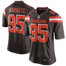7771de071 Cleveland 100% Stitiched high quality Men s Myles Garrett Brown Game Browns  jersey(China)