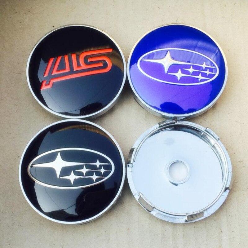 4pcs Lot 60mm Sti Logo Auto Car Wheel Center Hub Caps