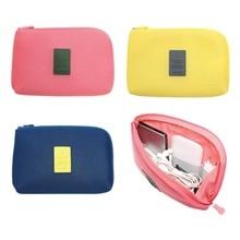 2019 Portable Travel Digital Storage Bag Gadgets USB Gadget Cable Headphone Cosmetic Zipper Storage Pouch kit Case Accessory joytour jt2019 mini travel gadgets storage pouch blue