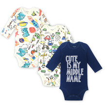 Carter Baby Boys Girl Clothes Jumpsuits & Baby Bodysuits Underwear Newborn Long Sleeve Car And Airplane Printing Baby Clothing(China)