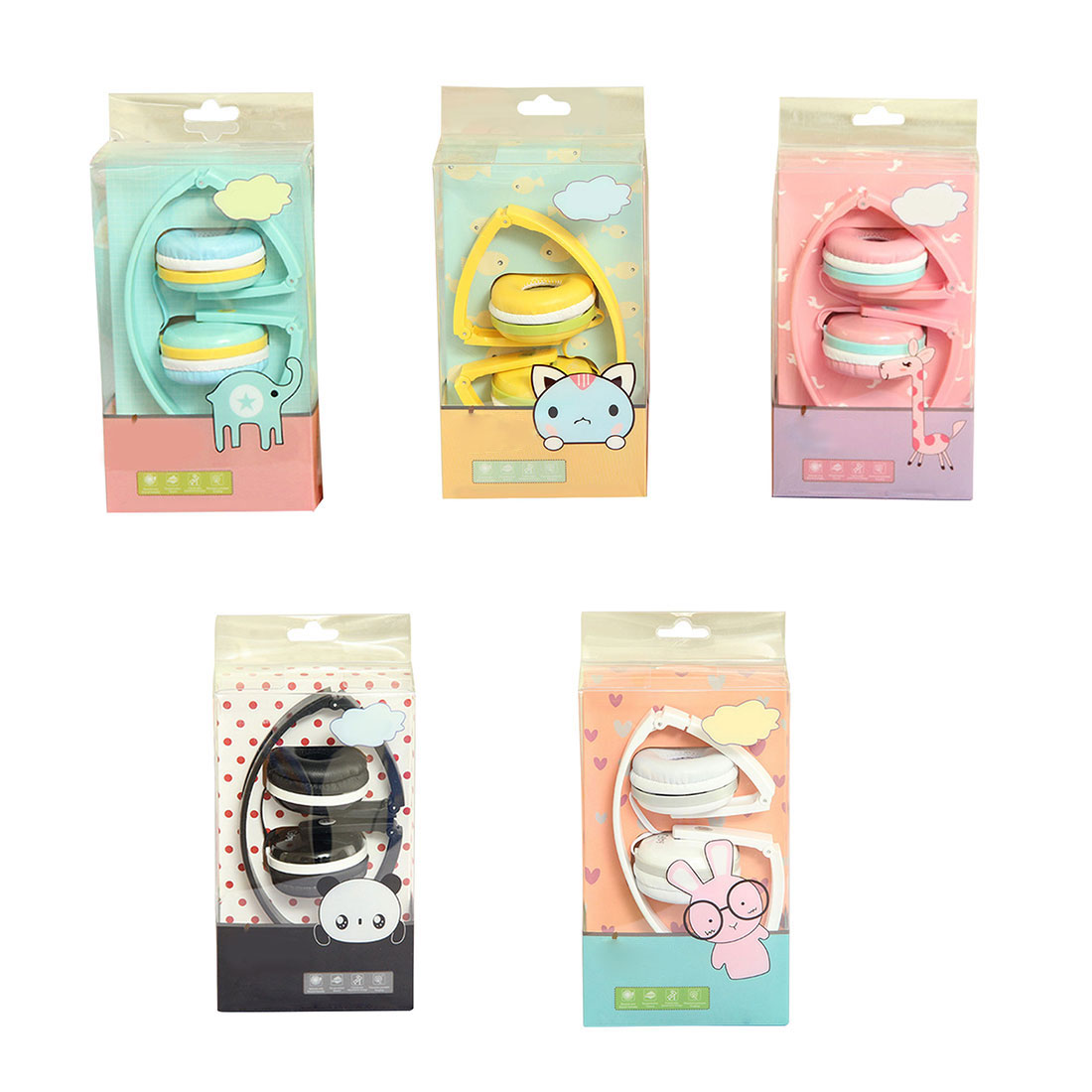 Marsnaska Birthday Girl Children Gifts Cute Candy Color Foldable Kids Headset Earphone for Mp3 Smartphone for
