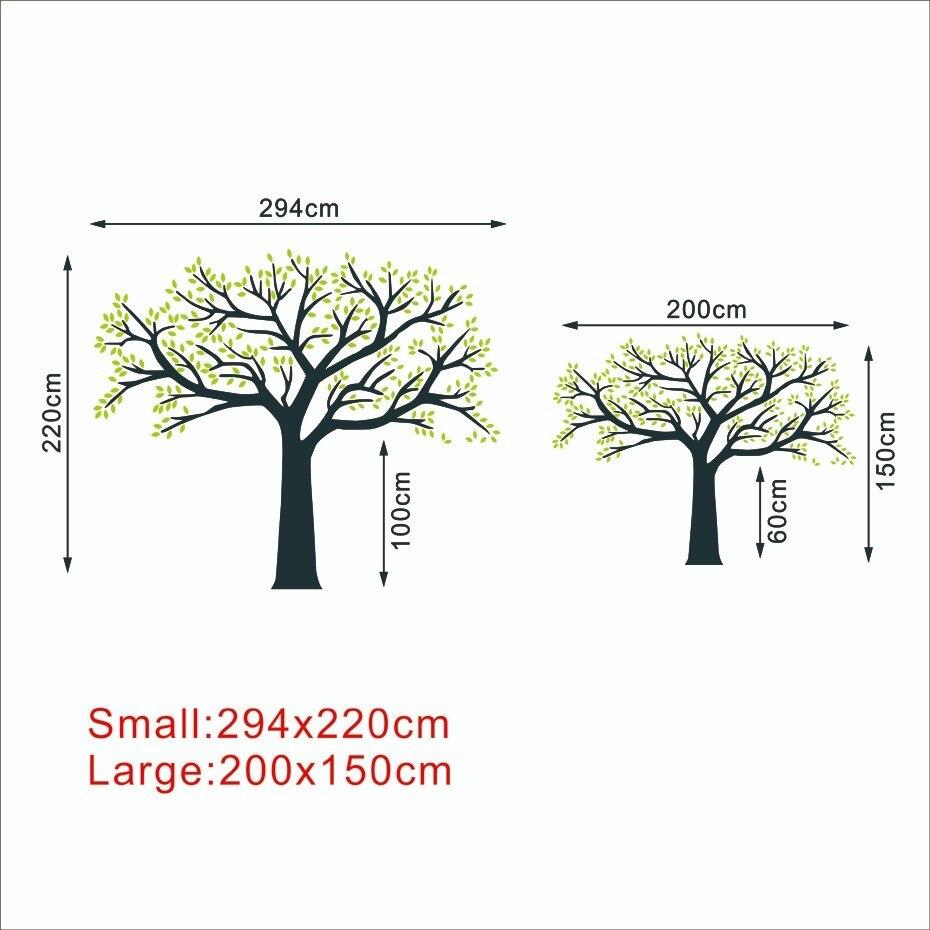 Fotografitë e mëdha familjare Pemë ngjitëse në mur vinyl Degët - Dekor në shtëpi - Foto 6