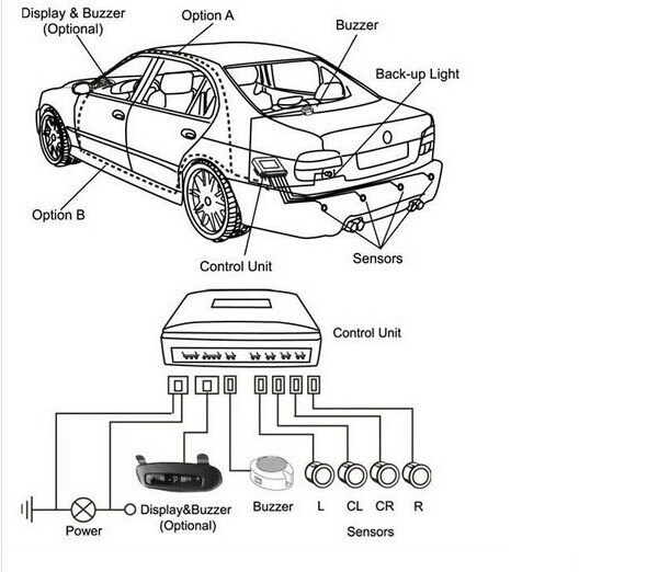 car parking sensor ultrasonic park assist system park