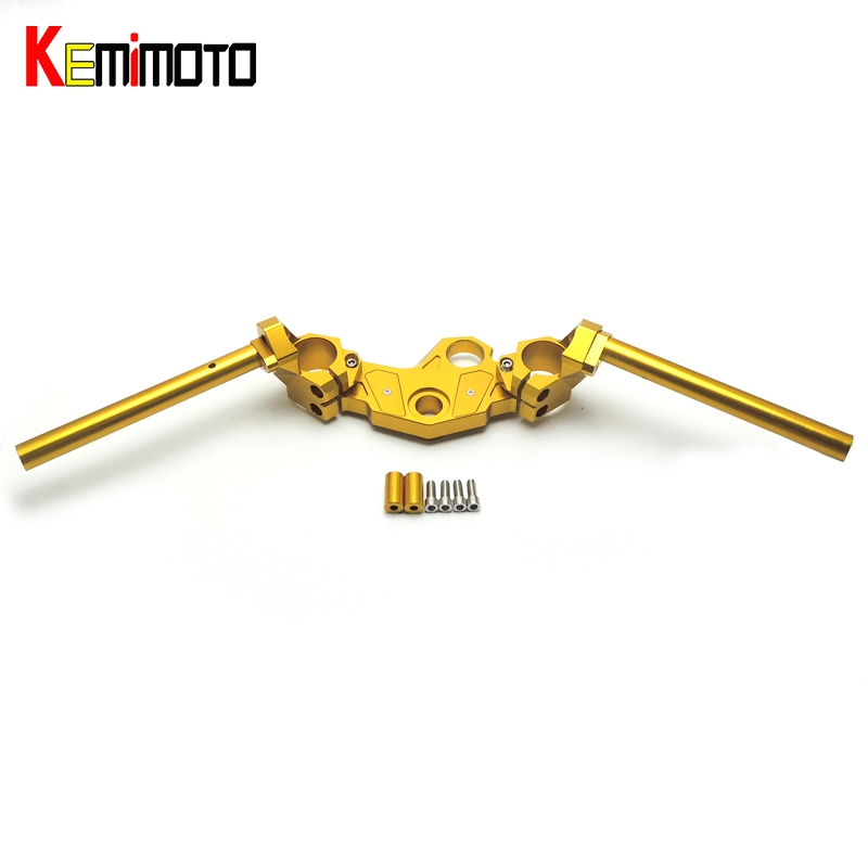 KEMiMOTO For Yamaha YZF R3 R25 Adjustable Handlebars Handle Bar With Clamp Kit YZF-R3 YZF-R25 MT03 MT25 2013 2014 2015 2016 2017 for yamaha yzf r25 yzf r3 cnc rear fender mudguard chain guard cover kit for yamaha yzf r25 r3 mt 03 mt03 mt 03 2015 2016 2017