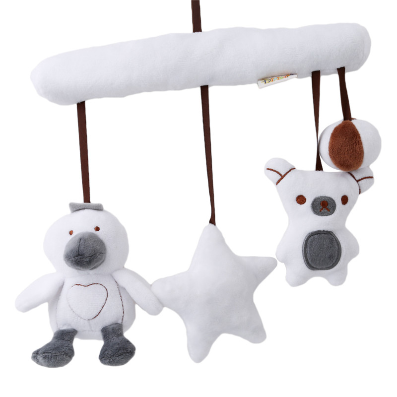 new cartoon duck owl musical baby toys bed crib car safety seat plush toy soft multifuncational. Black Bedroom Furniture Sets. Home Design Ideas