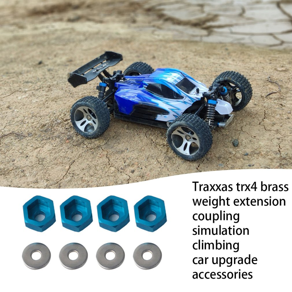 Ca4365 CA4366 4Pcs Wheel Rim Hex 12Mm Turn 17Mm Adapter For Hsp 1 10 Rc Car Buggy Monster Bigfoot Truck Can Use 1 8 Tires in Parts Accessories from Toys Hobbies