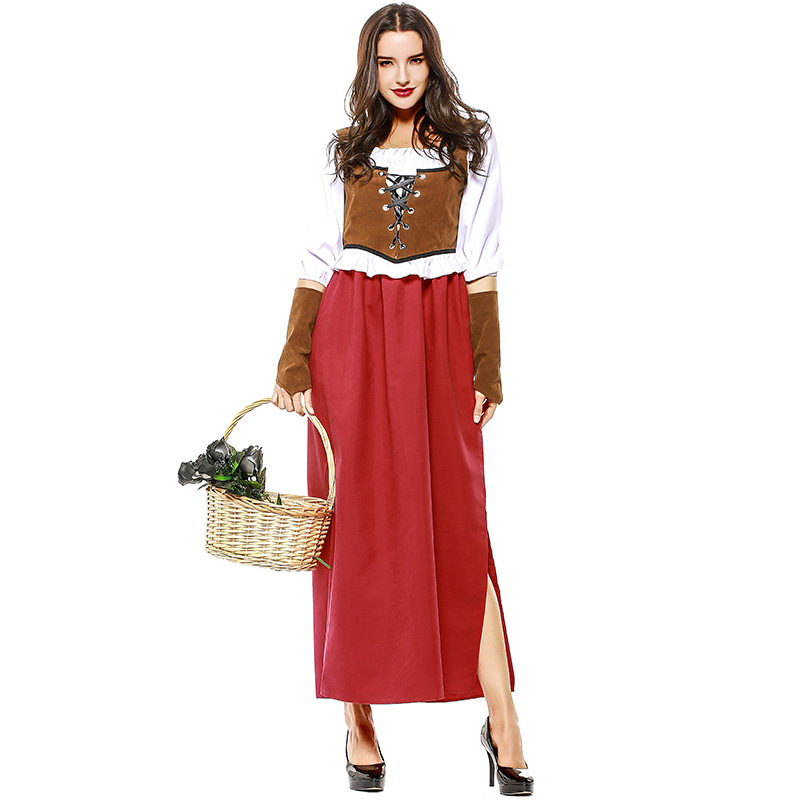 Umorden Adult Women Fairy Tale Classic Retro Little Red Riding Hood Costumes Costume for Purim Halloween Holiday Party Plus Size in Game Costumes from Novelty Special Use