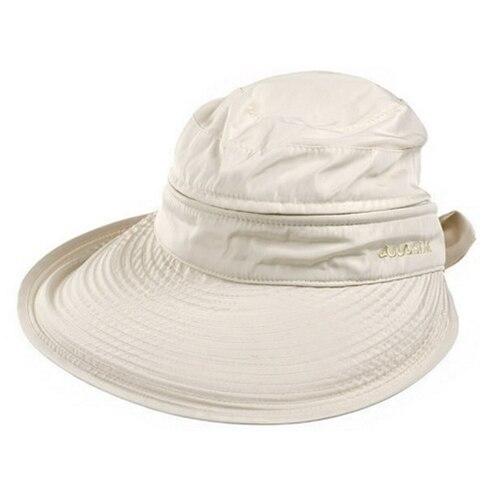 New Summer Fashion Bowknot Big Visor Cap Beach Sun Hat White